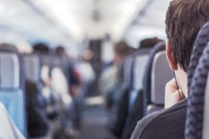airplane-business man